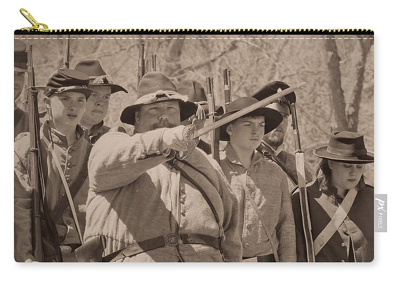 Soldiers Carry-all Pouch featuring the photograph Forward March by Kim Henderson