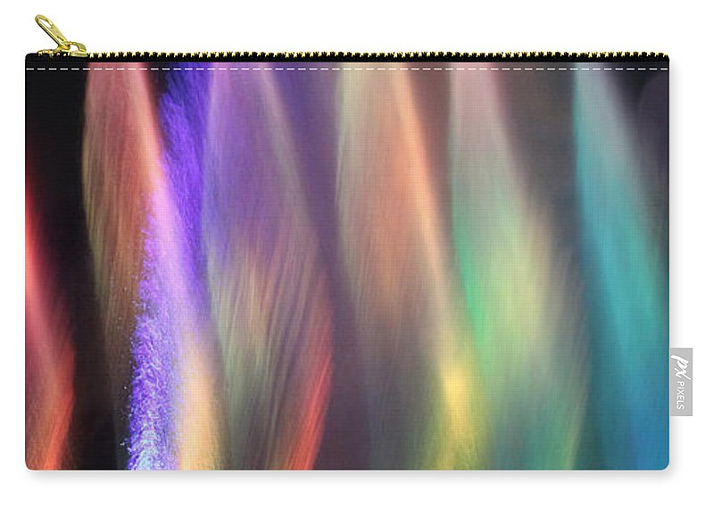 Abstract Carry-all Pouch featuring the photograph Fountains Of Color by James Eddy