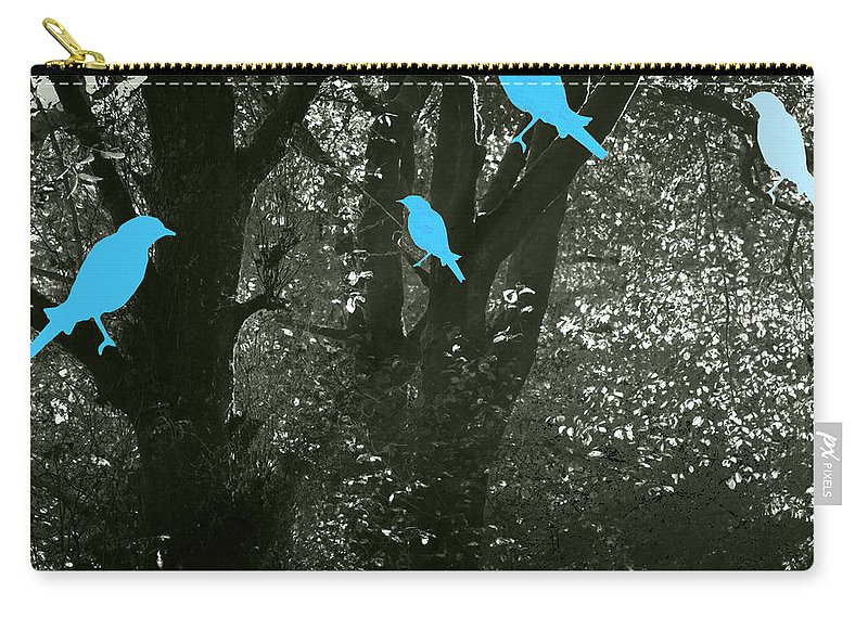 Landscape Carry-all Pouch featuring the photograph Four Birds by Kathleen Grace