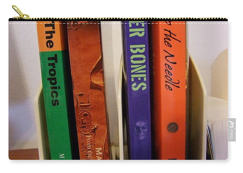 Books Carry-all Pouch featuring the photograph Four Of My Ten Books Published by Mary Deal
