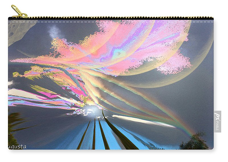 Augusta Stylianou Carry-all Pouch featuring the digital art Four Planets by Augusta Stylianou