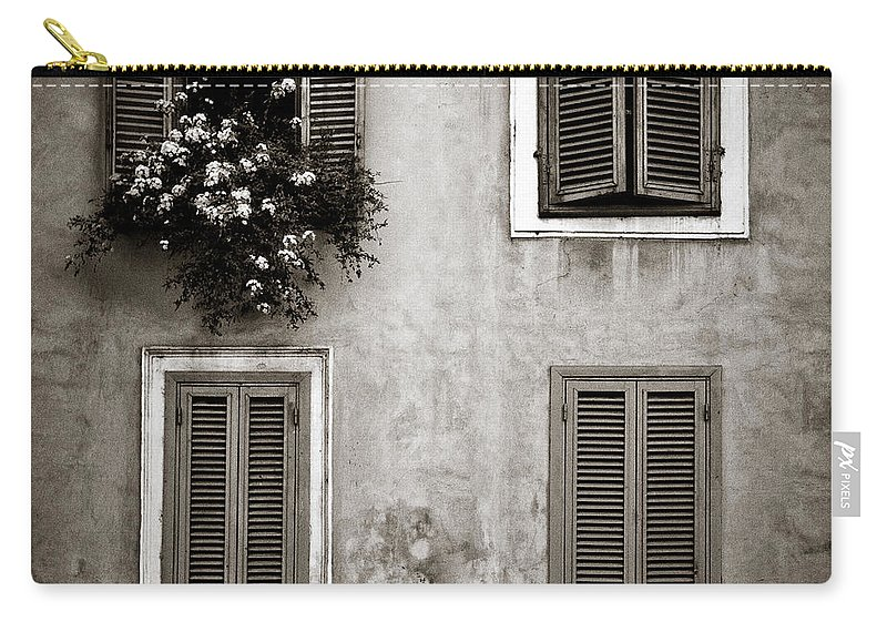 Rome Carry-all Pouch featuring the photograph Four Windows by Dave Bowman