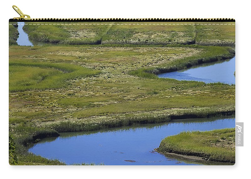 Marsh Carry-all Pouch featuring the photograph Fox Creek Marsh by David Stone