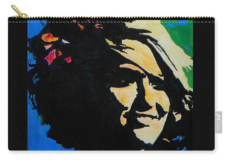 Abstract Expressionism Carry-all Pouch featuring the painting Foxy Lady 003 by Donna Frost