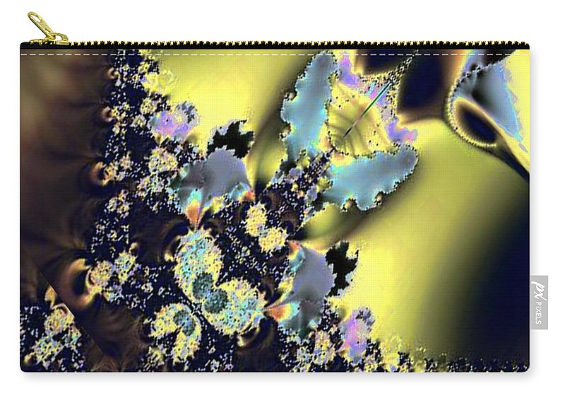Fractal 009 Carry-all Pouch featuring the digital art Fractal 009 by Maria Urso