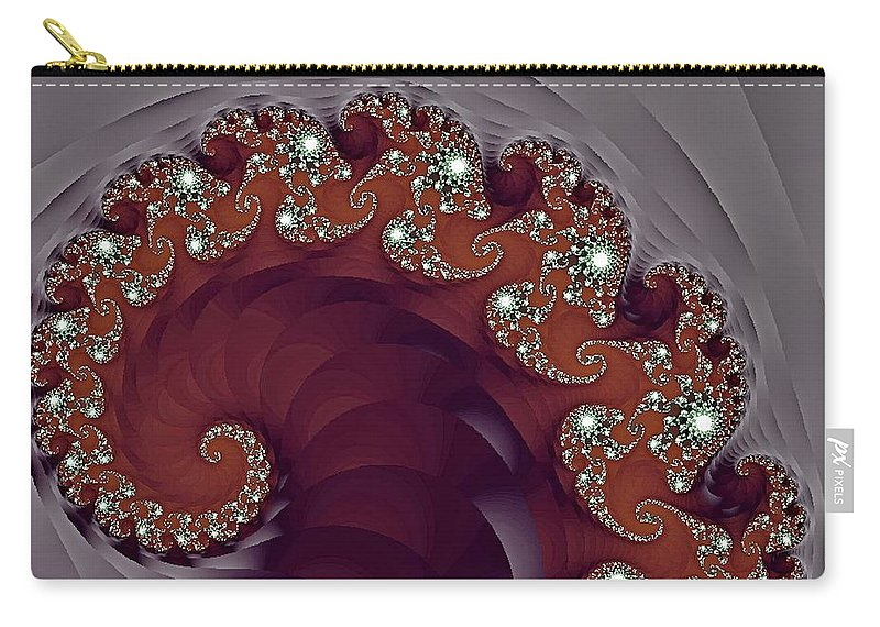 Fractal Carry-all Pouch featuring the photograph Bejeweled Tentacle by Lena Photo Art