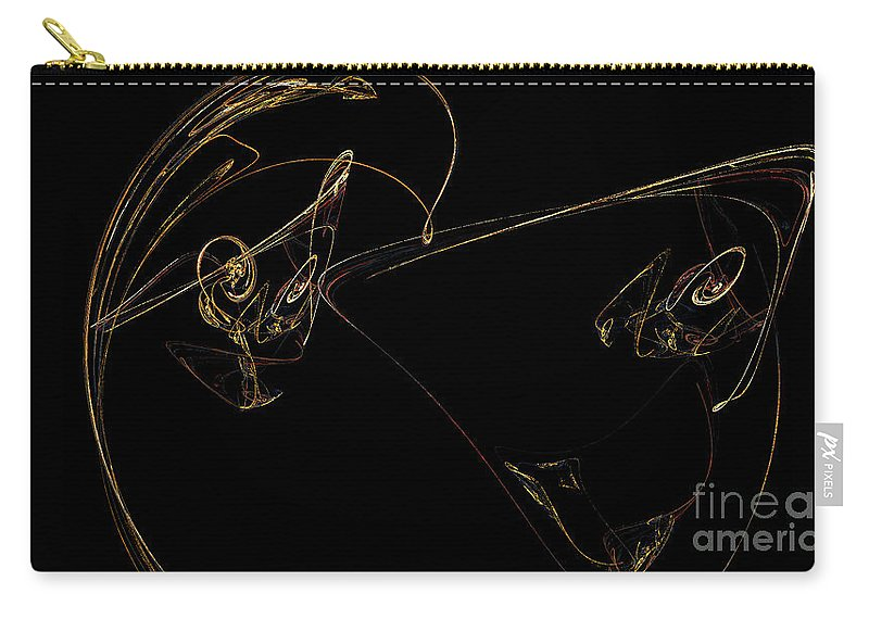 Digital Art Carry-all Pouch featuring the digital art Fractal 23 Doots by Alys Caviness-Gober