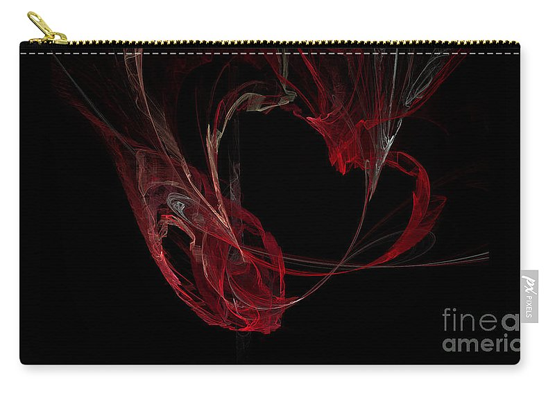 Digital Art Carry-all Pouch featuring the digital art Fractal 26 Garvbage by Alys Caviness-Gober