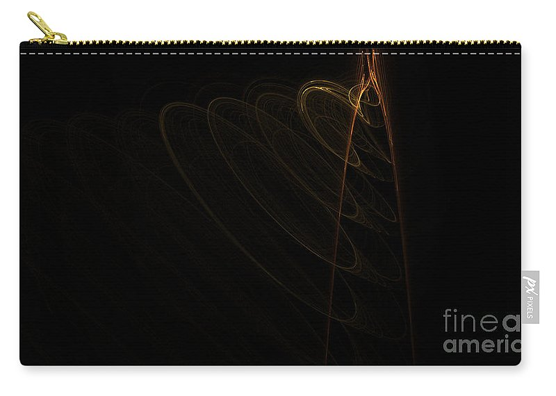 Digital Art Carry-all Pouch featuring the digital art Fractal 30 Loopdedoop by Alys Caviness-Gober