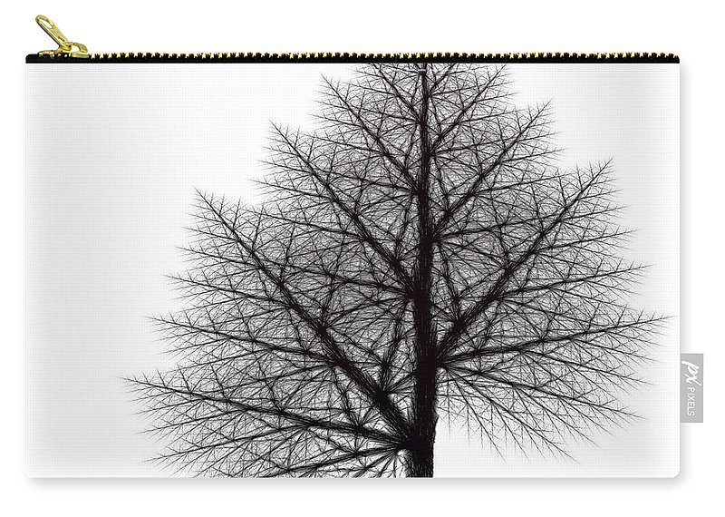 Fractal Carry-all Pouch featuring the digital art Fractal Essence Of A Tree by Richard Ortolano