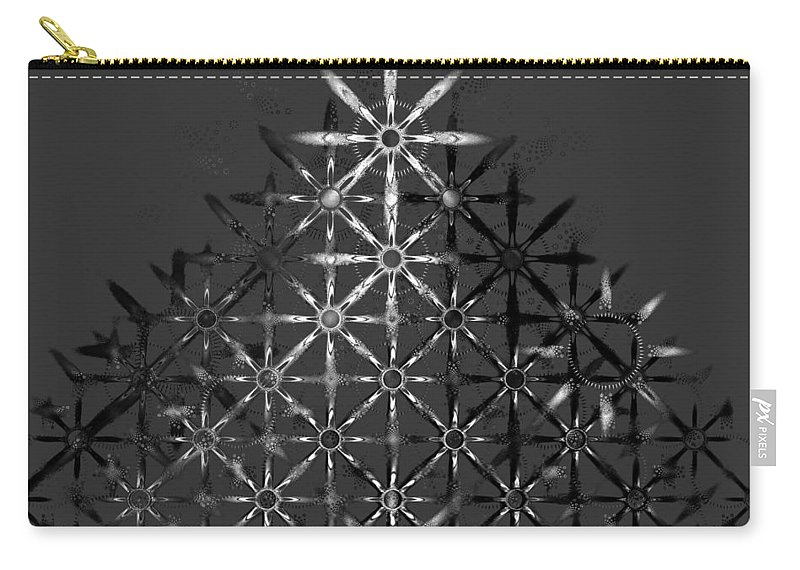 Fractal Carry-all Pouch featuring the digital art Fractal Flakes by GJ Blackman