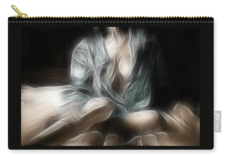 Fractal Carry-all Pouch featuring the photograph Fractal Nude 8637 by Timothy Bischoff