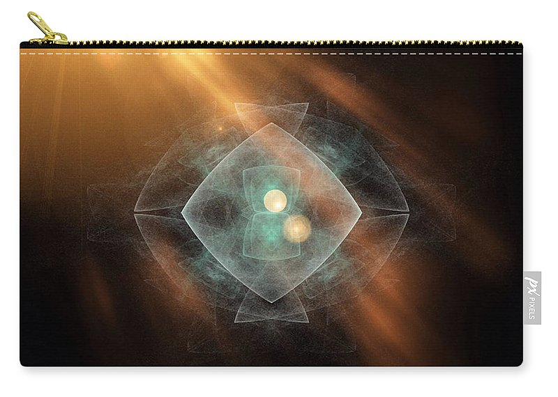 Cd Covers Carry-all Pouch featuring the photograph Fractal Ufo by Femina Photo Art By Maggie