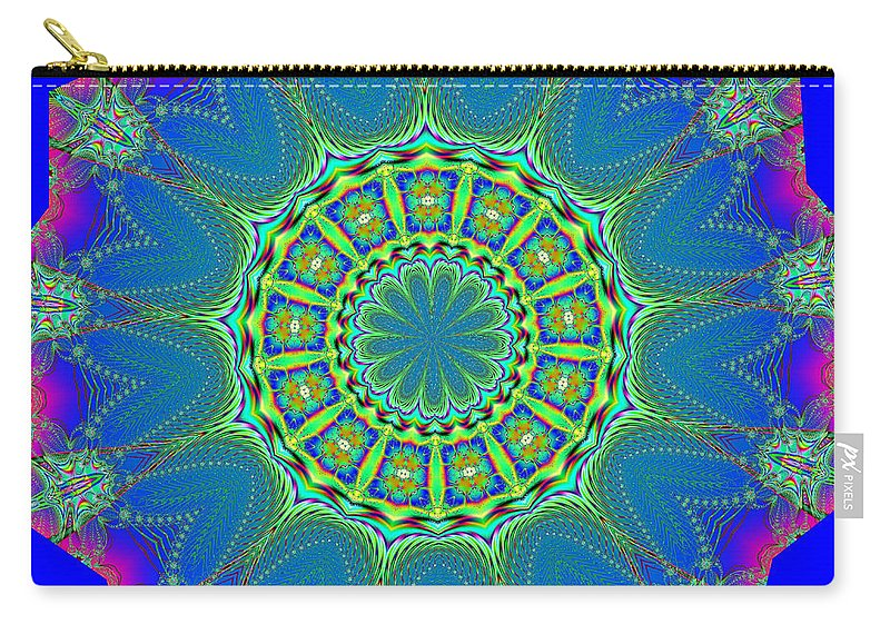Fractals Carry-all Pouch featuring the digital art Fractalscope 2 by Rose Santuci-Sofranko