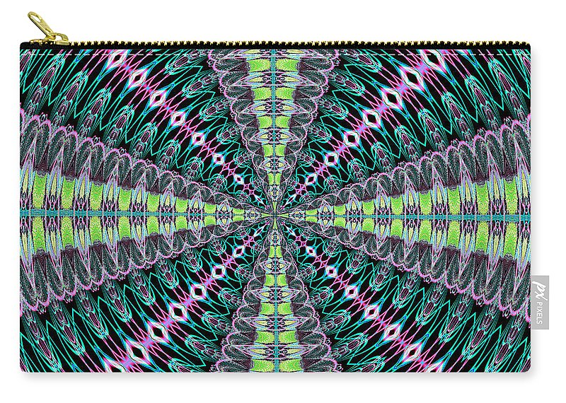 Fractals Carry-all Pouch featuring the digital art Fractalscope 25 by Rose Santuci-Sofranko