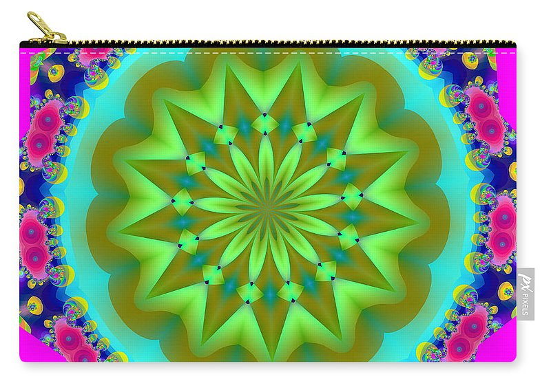 Fractals Carry-all Pouch featuring the digital art Fractalscope 28 by Rose Santuci-Sofranko