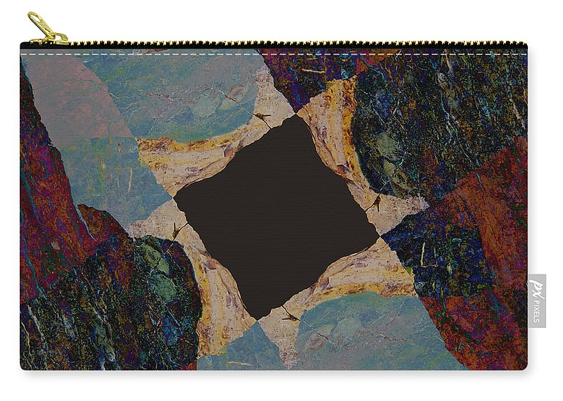Fracture Carry-all Pouch featuring the photograph Fracture Section IIi by Paul Davenport