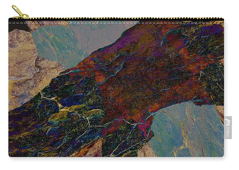 Fracture Carry-all Pouch featuring the photograph Fracture Section Il by Paul Davenport