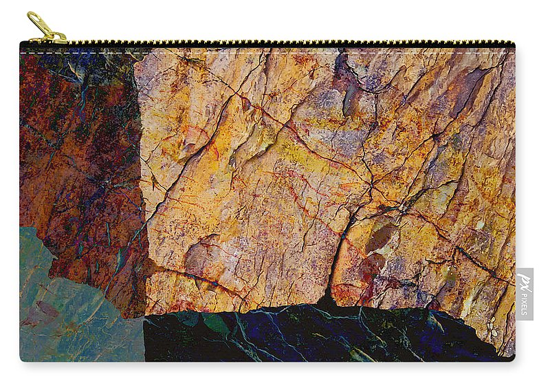 Fracture Carry-all Pouch featuring the photograph Fracture Section Ix by Paul Davenport