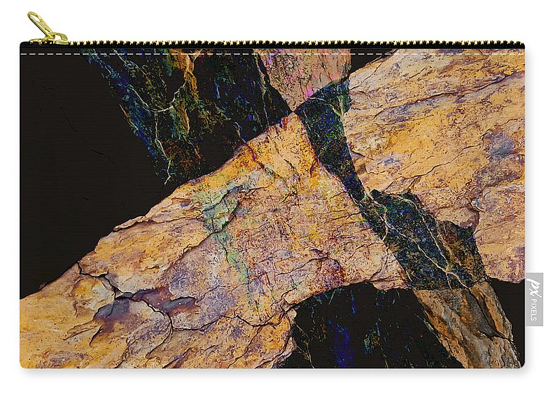 Fracture Carry-all Pouch featuring the photograph Fracture Section Vl by Paul Davenport