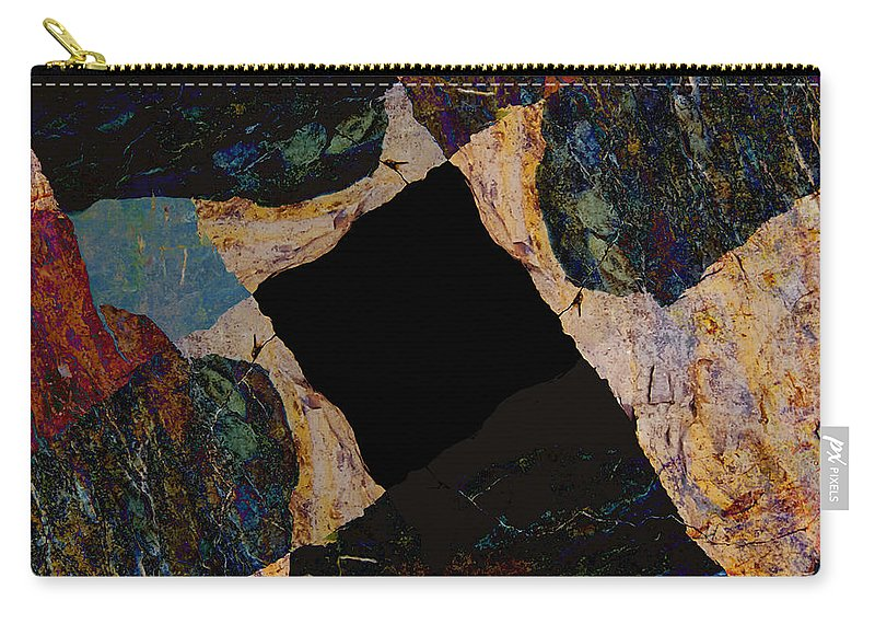 Fracture Carry-all Pouch featuring the photograph Fracture Section Vll by Paul Davenport