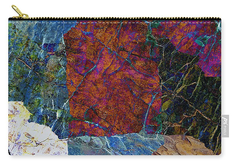 Fracture Carry-all Pouch featuring the photograph Fracture Section Xi by Paul Davenport
