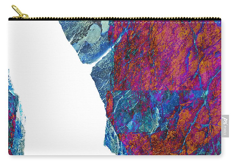 Fracture Carry-all Pouch featuring the photograph Fracture Section Xiii by Paul Davenport