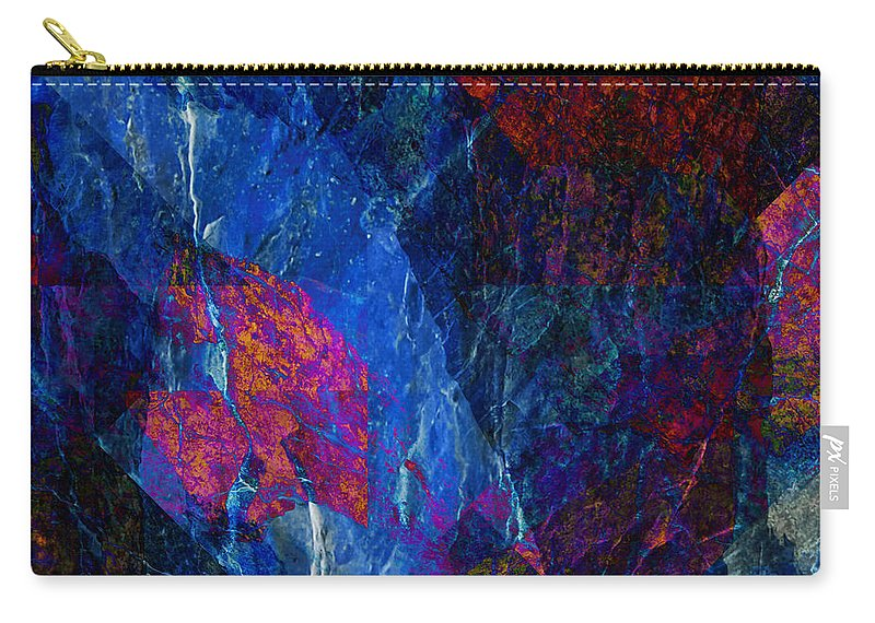 Fracture Carry-all Pouch featuring the photograph Fracture Section Xv by Paul Davenport