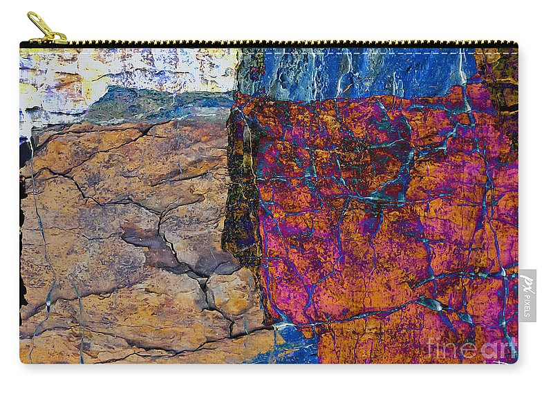 Fracture Carry-all Pouch featuring the photograph Fracture Section Xvii by Paul Davenport