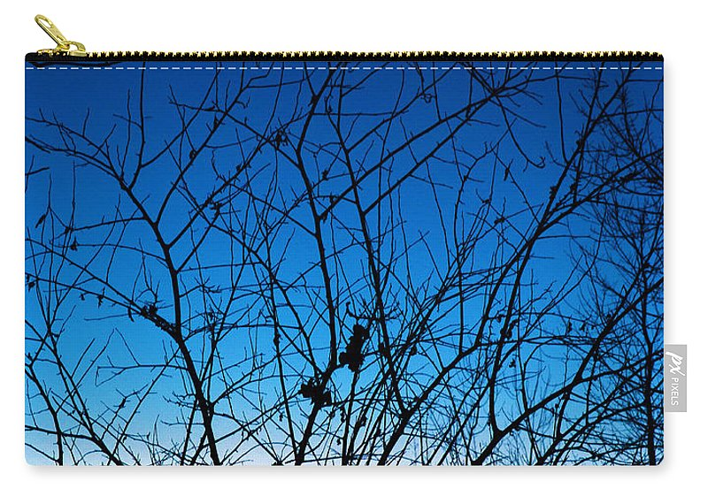 Tree Carry-all Pouch featuring the photograph Fractured Sunset by Gary Mosman