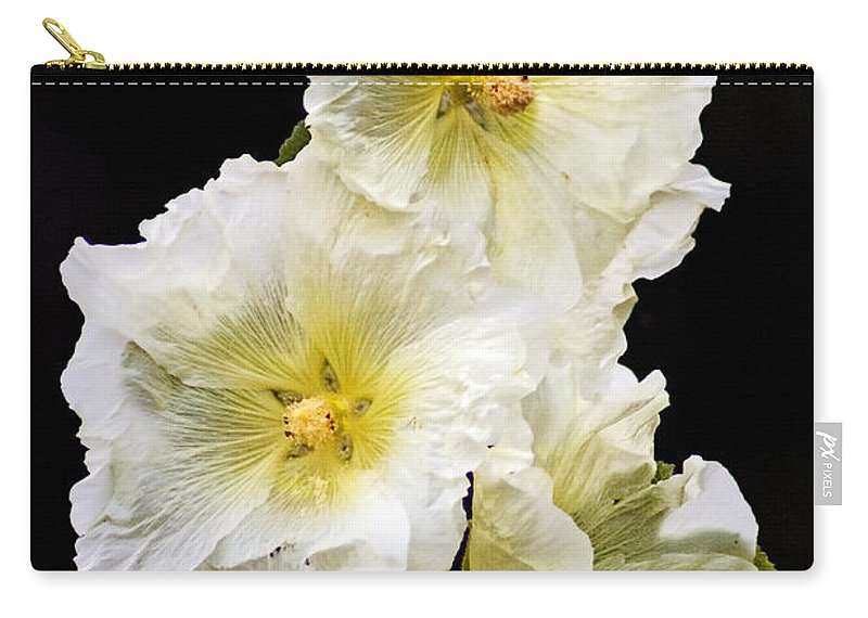 Hollyhock Carry-all Pouch featuring the photograph Fragile Flower by Joe Geraci