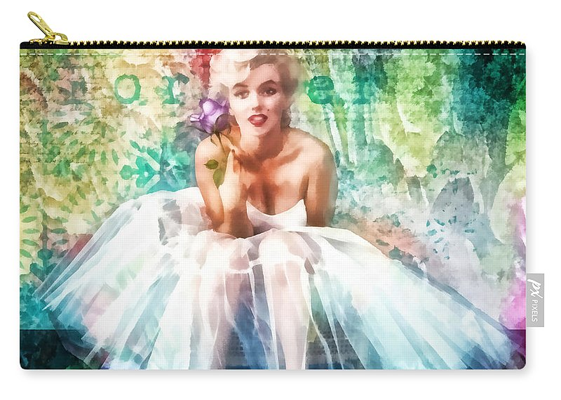 Fragile Carry-all Pouch featuring the painting Fragile by Mo T