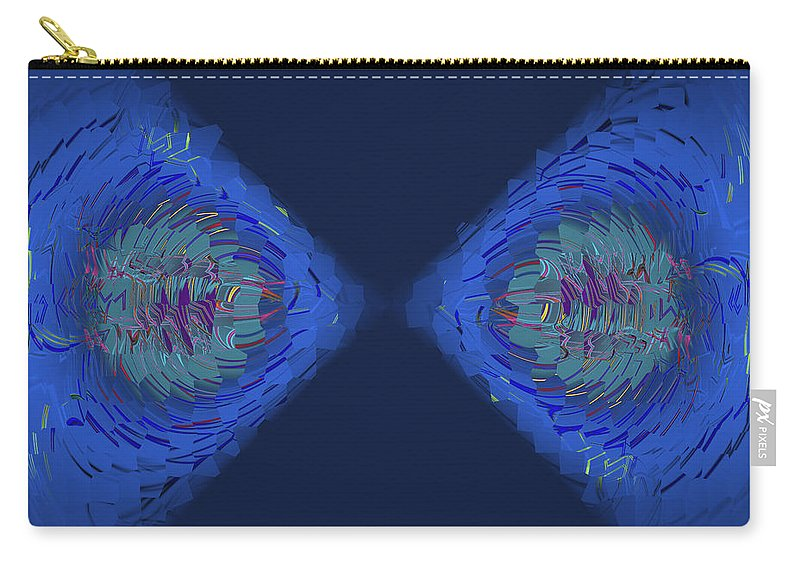 Abstract Carry-all Pouch featuring the digital art Fragmented Vision by Judi Suni Hall