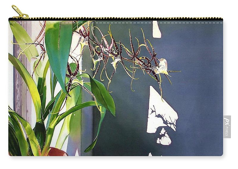 Plant Carry-all Pouch featuring the painting Frailty by Denny Bond