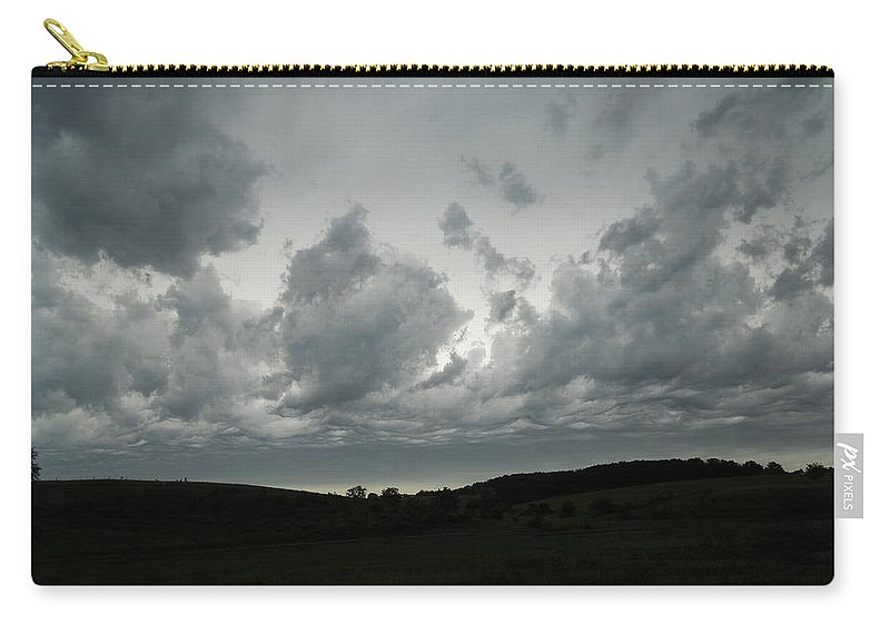Clouds Carry-all Pouch featuring the photograph Framing The Land by Coleen Harty