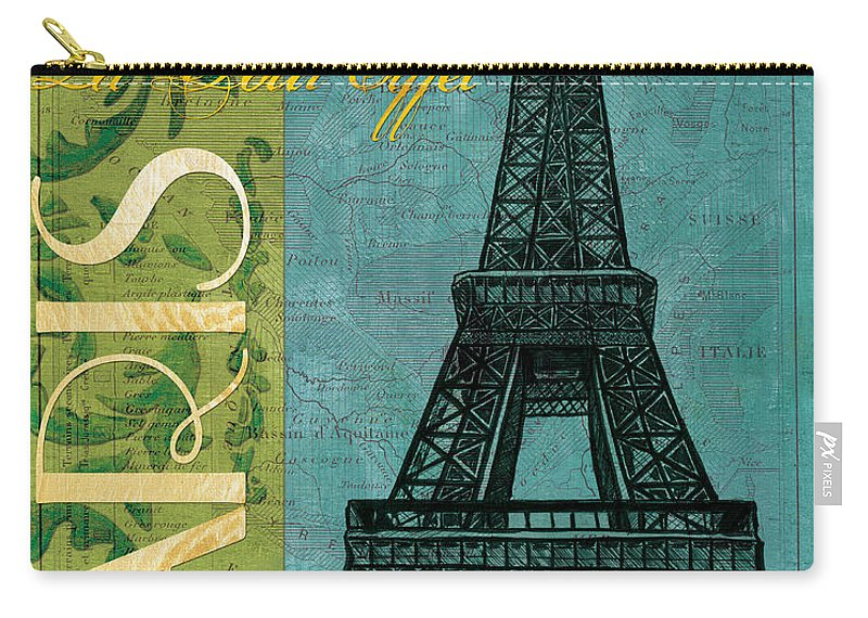 France Carry-all Pouch featuring the painting Francaise 1 by Debbie DeWitt