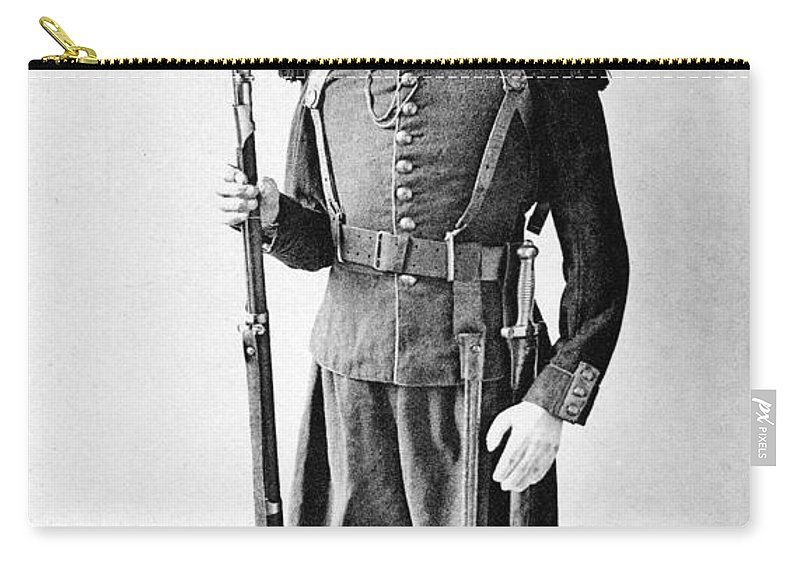 1860 Carry-all Pouch featuring the photograph France Grenadier, 1860 by Granger