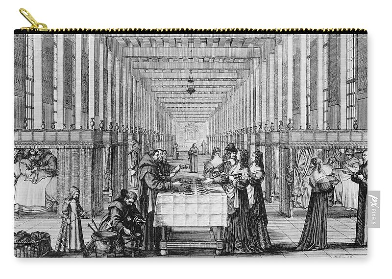 1635 Carry-all Pouch featuring the photograph France: Hospital, C1635 by Granger