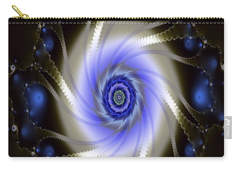 Fractal Art. Digital Image Carry-all Pouch featuring the digital art Fraxal Vision by Mario Carini