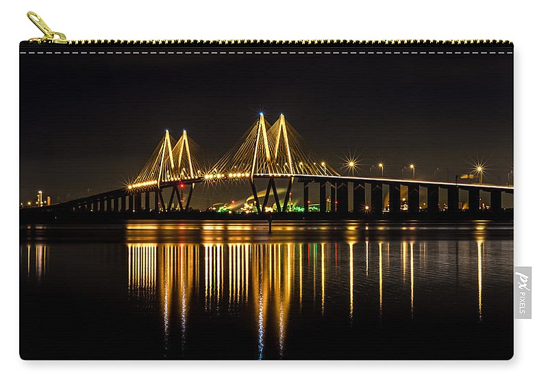 Fred Hartman Bridge Carry-all Pouch featuring the photograph Fred Hartman Bridge by David Morefield
