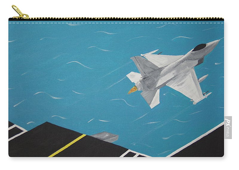 Airplane Carry-all Pouch featuring the painting Free Bird by Dean Stephens