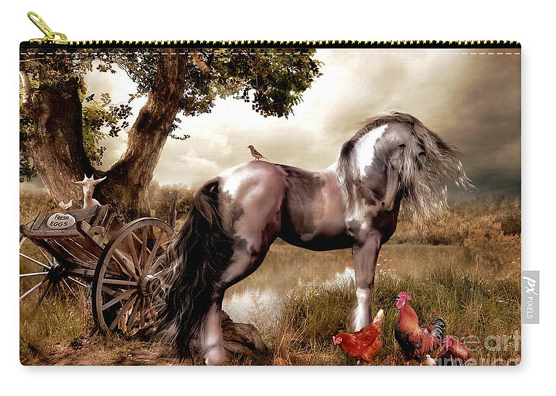 Original Carry-all Pouch featuring the digital art Free Range by Shanina Conway