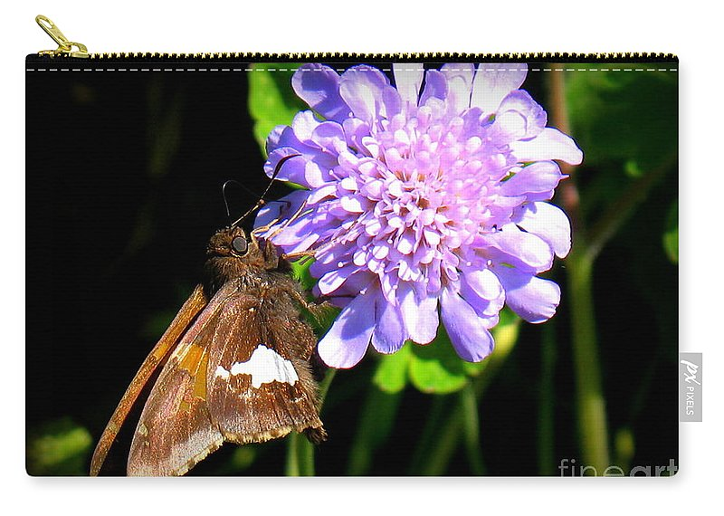 Silver Spotted Skipper Carry-all Pouch featuring the photograph Silver Spotted Skipper by Patti Whitten