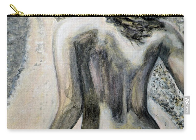 Nude Carry-all Pouch featuring the painting Freedom by Augusta Stylianou