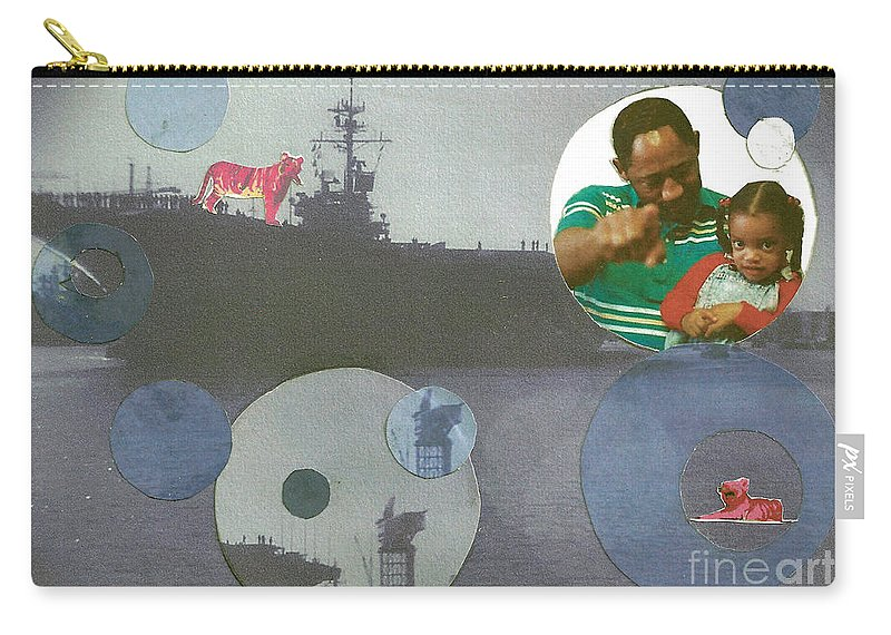 Ship Carry-all Pouch featuring the mixed media Freedom From Fear by Charles M Williams