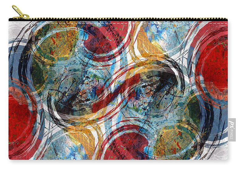 Abstract Carry-all Pouch featuring the digital art Freedom by Ruth Palmer
