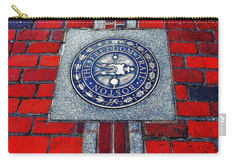 Boston Carry-all Pouch featuring the photograph Freedom Trail by Benjamin Yeager