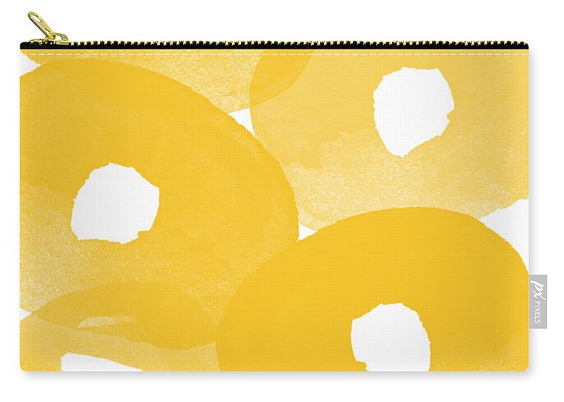 Abstract Flowers Carry-all Pouch featuring the painting Freesia Splash by Linda Woods