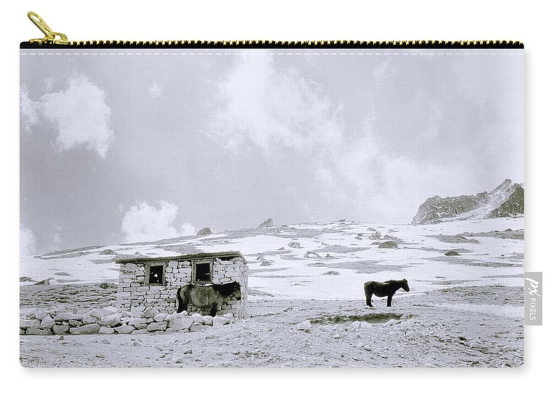 Himalaya Carry-all Pouch featuring the photograph Freeze by Shaun Higson