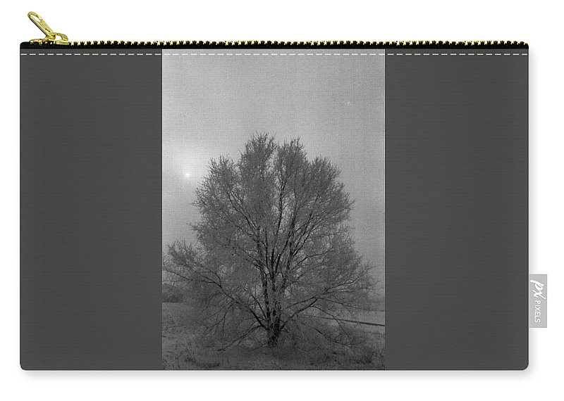 Fog Carry-all Pouch featuring the photograph Freezing Fog by Mike Wheeler